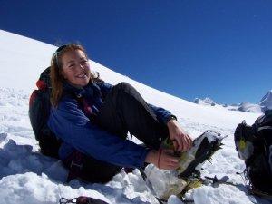 Ellie on Breithorn